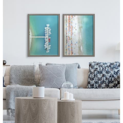 Kate and Laurel Blake Monterosso Framed Printed Glass by Rachel Dowd