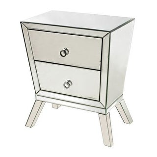 Sterling Industries 114-54 Mirrored Side Cabinet with 2 Drawers - CLEAR