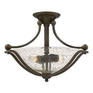 """Hinkley Lighting 4651 2 Light 19.25"""" Width Semi-Flush Ceiling Fixture from the Bolla Collection"""