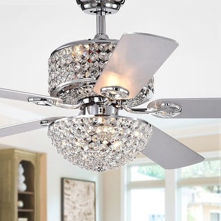 Link to Silver Orchid Finlayson Chrome 5-blade 52-inch Lighted Ceiling Fan Similar Items in Ceiling Fans
