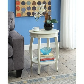 Side Table In Red - Mdf, Solid Wood Leg Red