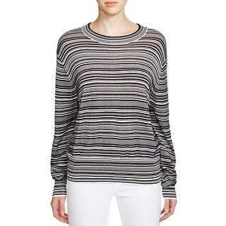 DKNY Womens Pullover Sweater Ribbed Striped