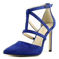 Nine West Womens tenlee Suede Pointed Toe Special Occasion Strappy Sandals - 6