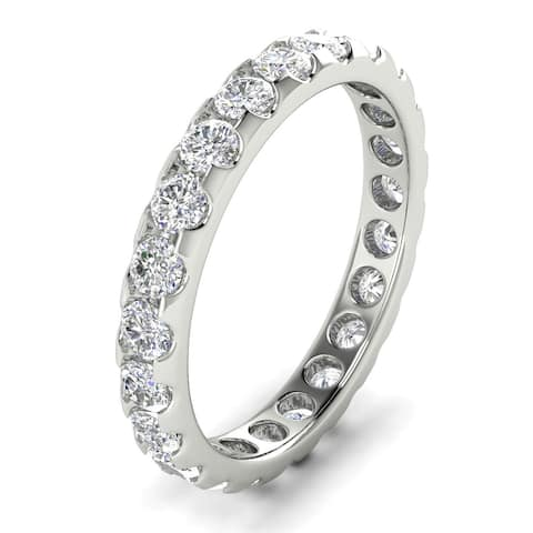 1.60 CT Classic Prong Round Cut Diamond Eternity Wedding Band in 14KT