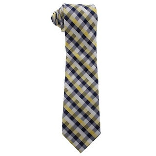 Nautica Mens Beach Club II Neck Tie Silk Gingham - o/s