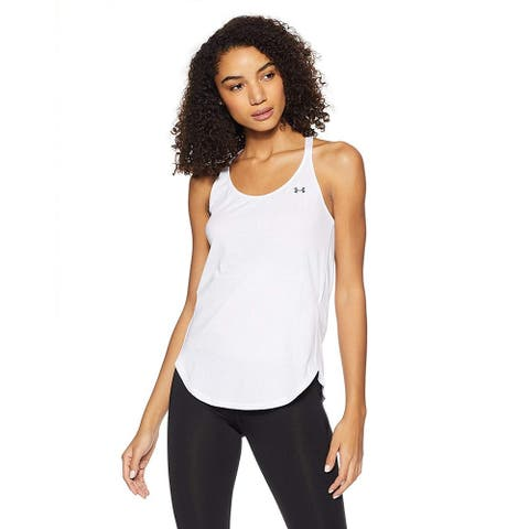 Under Armour Women's HeatGear Armour Coolswitch Tank White Graphite Size Extra Large - X-Large