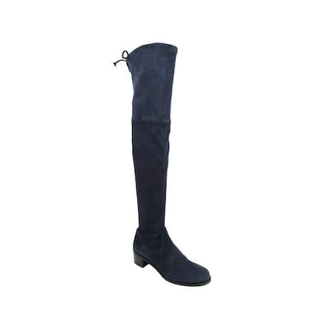 Stuart Weitzman Women's Midland Nice Blue Suede Knee High Boot (6.5 M) - 6.5 M