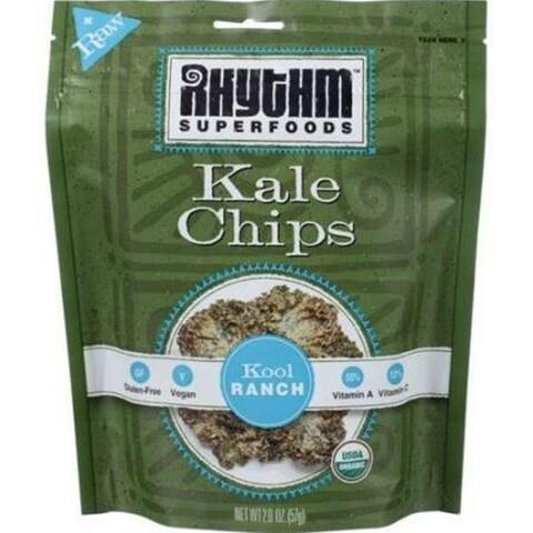 Rhythm Superfoods - Kool Ranch Kale Chips ( 12 - 2 oz bags)