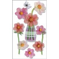 Pink Flowers - Jolee's Boutique Dimensional Stickers