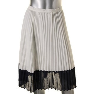 Lauren Ralph Lauren Womens Pleated Skirt Chiffon Colorblock
