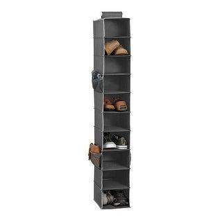 10-Shelf Hanging Shoe Closet Organizer, Gray