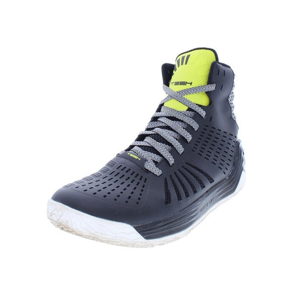 best cheap 56018 8e8d2 Tesh Mens Trigger Basketball Shoes High Top Perforated