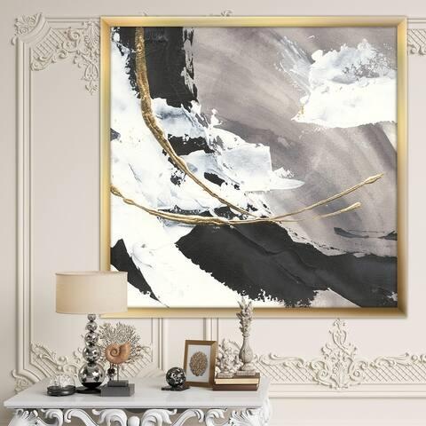 Designart 'Glam Painted Arcs II' Transitional Framed Art Print