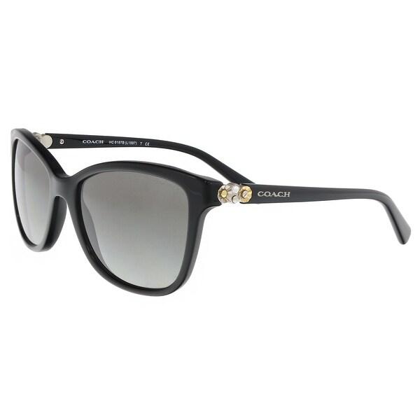 5faa9668c0515 Shop Coach HC8187B 500211 Black Butterfly Sunglasses - 54-17-135 ...