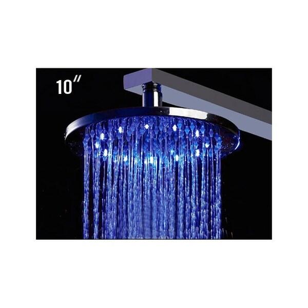 Alfi Brand Led5006 10 Inch Round Multi Color Led Rain Shower Head Chrome