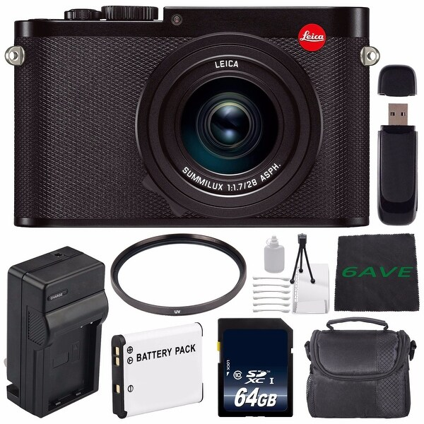 Leica Q (Typ 116) Digital Camera + Replacement Lithium Ion Battery + External Rapid Charger + 64GB Memory Card Bundle