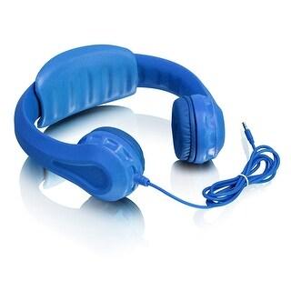 Aluratek Akh01fb Volume Limiting Wired Foam Headphones For Children (Blue)