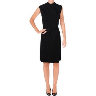 Lauren Ralph Lauren Womens jACINTHE Wear to Work Dress Belted Front Slit