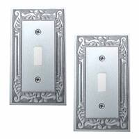 2 Switch Plates Chrome-plated Brass Victorian Style Set of 2 | Renovator's Supply