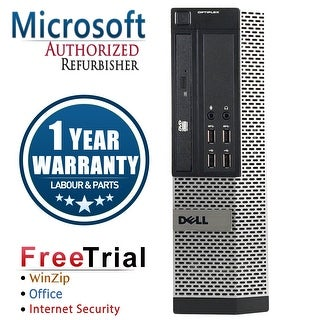 Refurbished Dell OptiPlex 9020 SFF Intel Core I5 4570 3.2G 4G DDR3 500G DVD Win 7 Pro 64 Bits 1 Year Warranty - Black