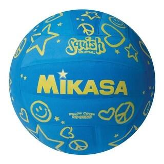 Mikasa Squish Volleyball, Blue, Yellow, Round
