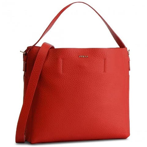 Furla Womens Capriccio Hobo Large Bag Vermiglio Red