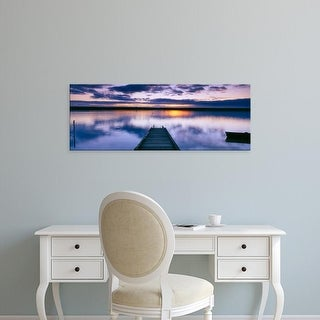 Easy Art Prints Panoramic Images's 'Reflection of clouds on water, Chesil Beach, Portland, Dorset, England' Canvas Art