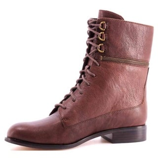 MICHAEL Michael Kors Womens Zana Bootie Leather Closed Toe Mid-Calf Combat Bo...