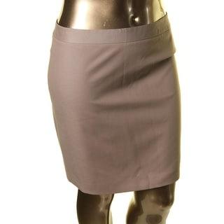 Tahari Womens Woven Midi Straight Skirt