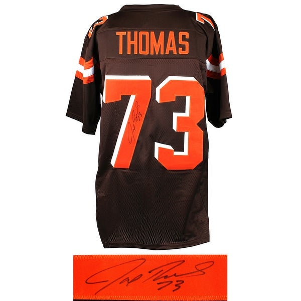 timeless design c26c6 12d01 Joe Thomas Brown Custom Football Jersey
