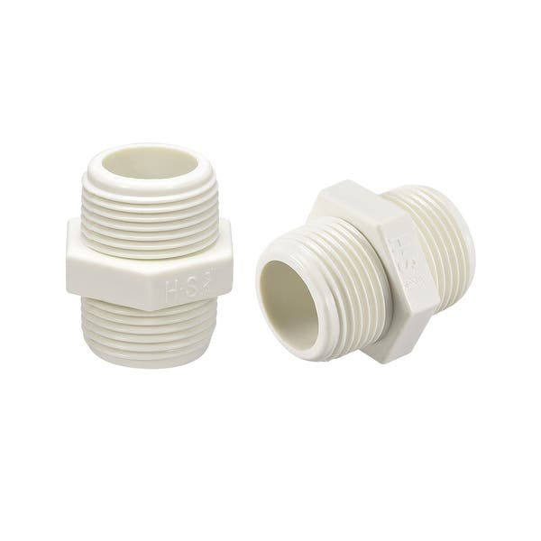 Pipe Fitting Hexagonal Nipple Pipe Connector Threaded Pipe Connector Fittings 5Pcs for Plumbing