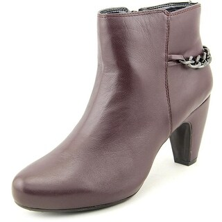 Easy Spirit Parilynn Round Toe Leather Ankle Boot