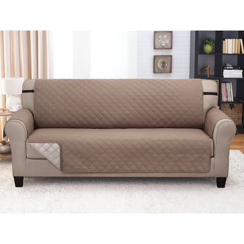"Reversible Furniture Protector XL Sofa Taupe/Beige - 122"" x 80"""