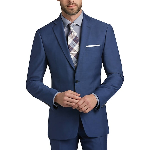8a195c99d8 Shop Calvin Klein Medium Blue Extreme Slim Fit Suit - Free Shipping Today -  Overstock - 23435457
