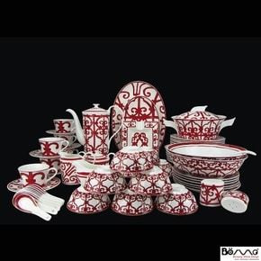 Balcon du Guadalquivir Luxury Bone China Dinnerware Set 56 piece Service for Six