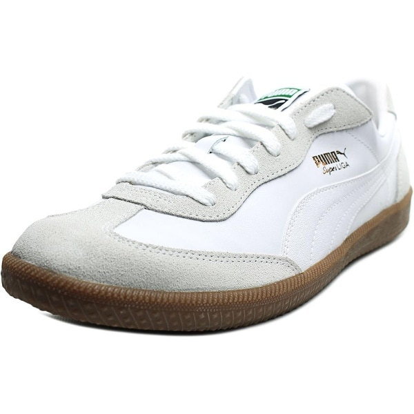 sale retailer 7d08b dc8c6 Puma Super Liga OG Retro Men Round Toe Leather White Sneakers