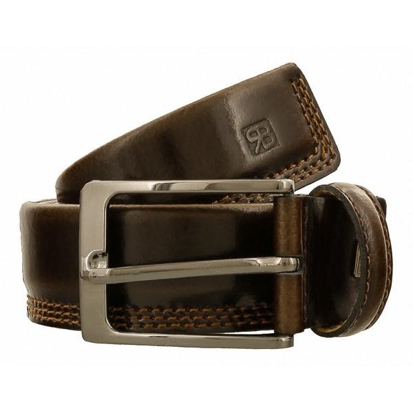 Renato Balestra J141 MARRONE SCURO Dark Brown Leather Mens Belt