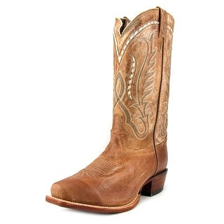 Tony Lama Beige Travis 2E Square Toe Leather Western Boot