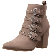 Carlos by Carlos Santana Womens Gamma Fabric Almond Toe Ankle Fashion Boots