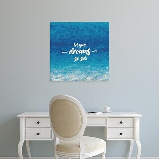 Easy Art Prints James Wiens's 'Underwater Quotes II' Premium Canvas Art