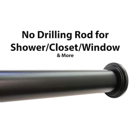 "1"" No Drilling Shower Closet Window Metal Adjustable Tension Rod"