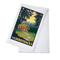 The Adirondacks - Cabin in the Woods - LP Artwork (100% Cotton Towel Absorbent)