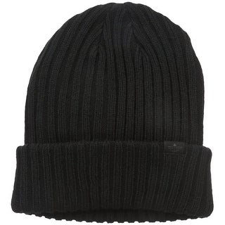 Dockers Men Therma-Soft Lining Ribbed Cuffed Beanie Hat One Size - One size