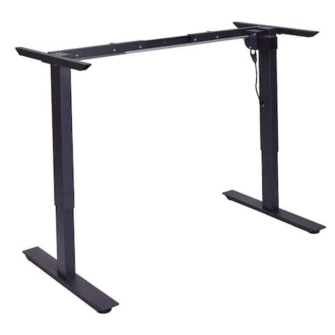 Gymax Black Electric Stand Up Desk Frame w/Single Motor Height