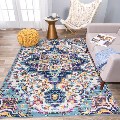 Traditional Distressed Non Skid Area Rug