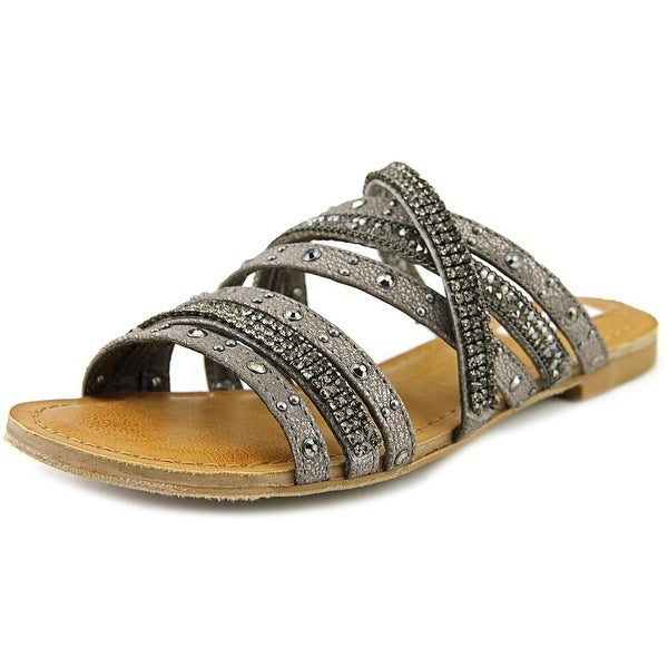 Not Rated Cassie Women Open Toe Synthetic Gray Slides Sandal