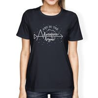 Adventure Begins T-Shirt Navy College Graduation Gift For Daughter