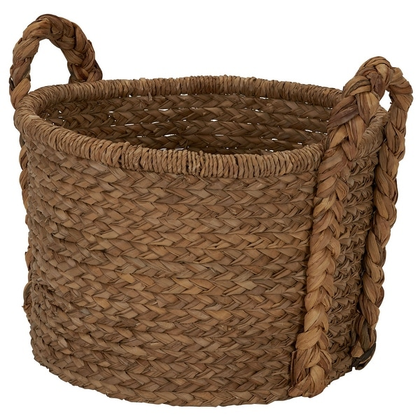 Household Essentials Large Wicker Floor Basket With Braided Handle - 19''x 25''. Opens flyout.