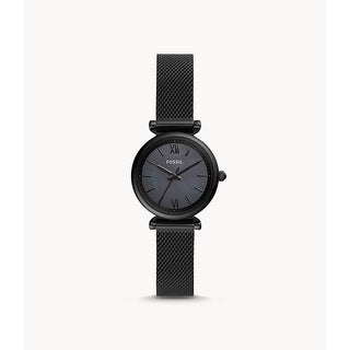 Fossil Women's Mini Black Stainless Steel Mesh Band Watch