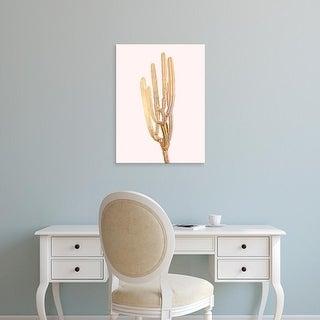 Easy Art Prints Andreas Lie's 'Golden Cactus 4' Premium Canvas Art